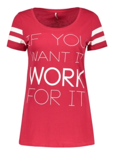 onlNEW JOLI S/S TOP BOX ESS 15135915 Jeser Red/Work for it