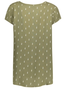 vmboca ss blouse printed 10128072 vero moda t-shirt ivy green