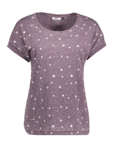 Only T-shirt onlGUNVA S/S STAR BURNOUT TOP JRS 15134196 Winetasting