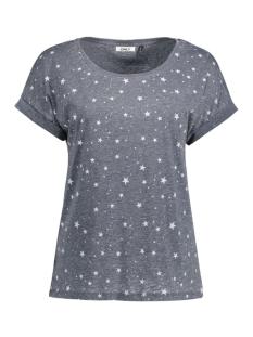 onlgunva s/s star burnout top jrs 15134196 only t-shirt navy blazer