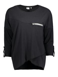 objkandie petti l/s top 23020676 object t-shirt black