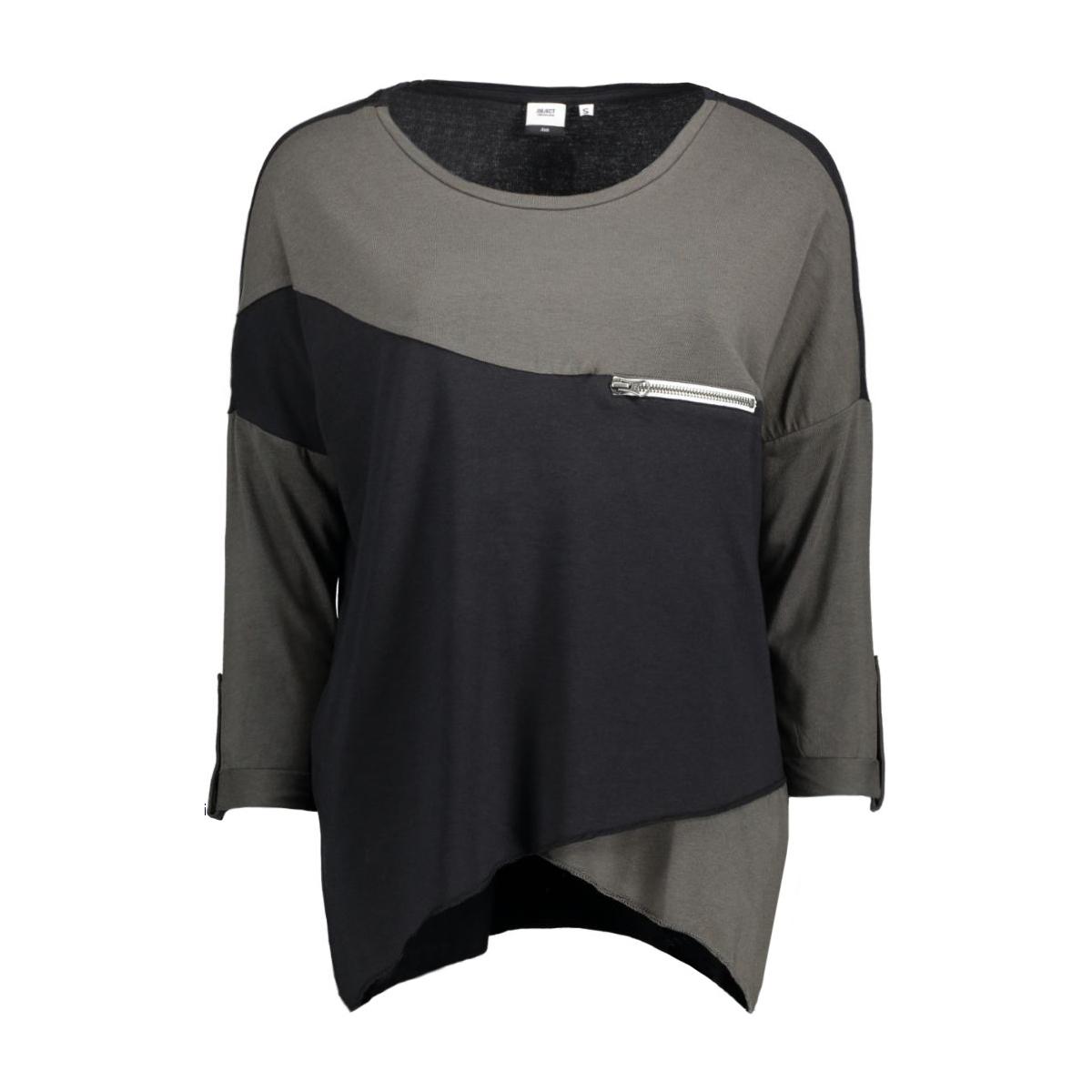 objkandie petti l/s top 23020676 object t-shirt beluga
