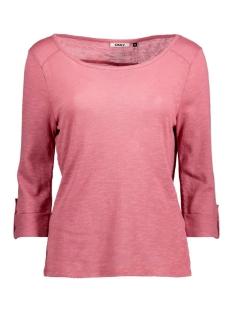 Only T-shirt onlJESS 3/4 TOP JRS NOOS 15096632 mesa rose