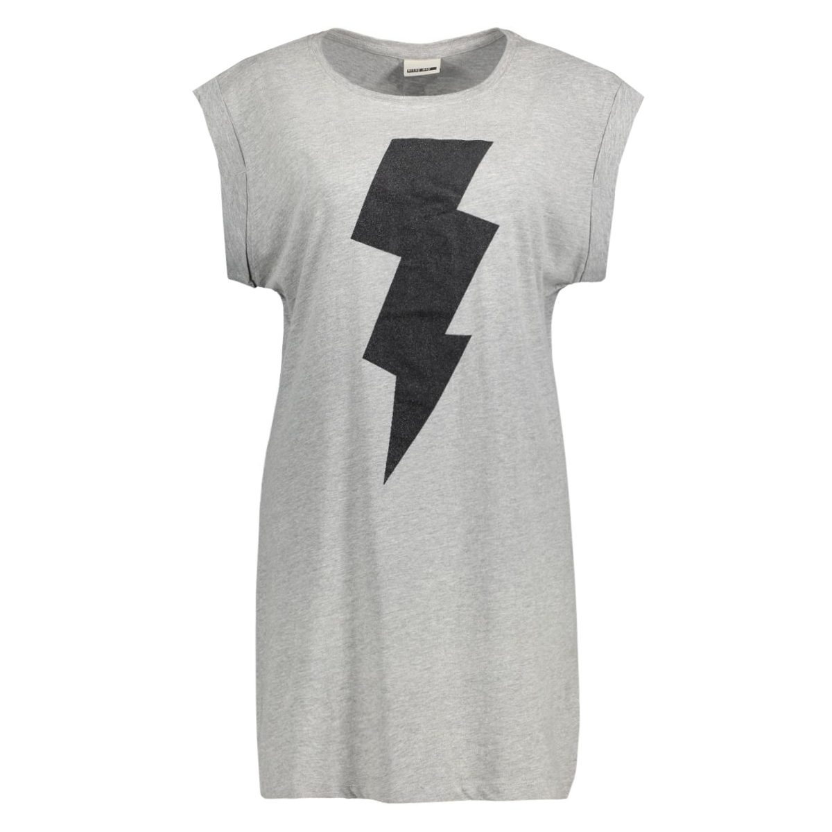 nmmerry s/s long top 10164293 noisy may t-shirt light grey