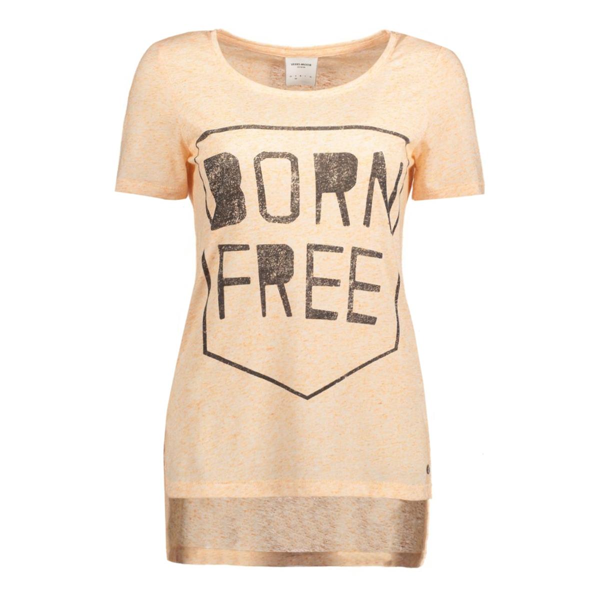 vmcharlotte wild ss slit top 10165535 vero moda t-shirt dusty coral