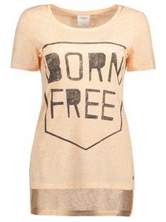 Vero Moda T-shirt VMCHARLOTTE WILD SS SLIT TOP 10165535 Dusty Coral