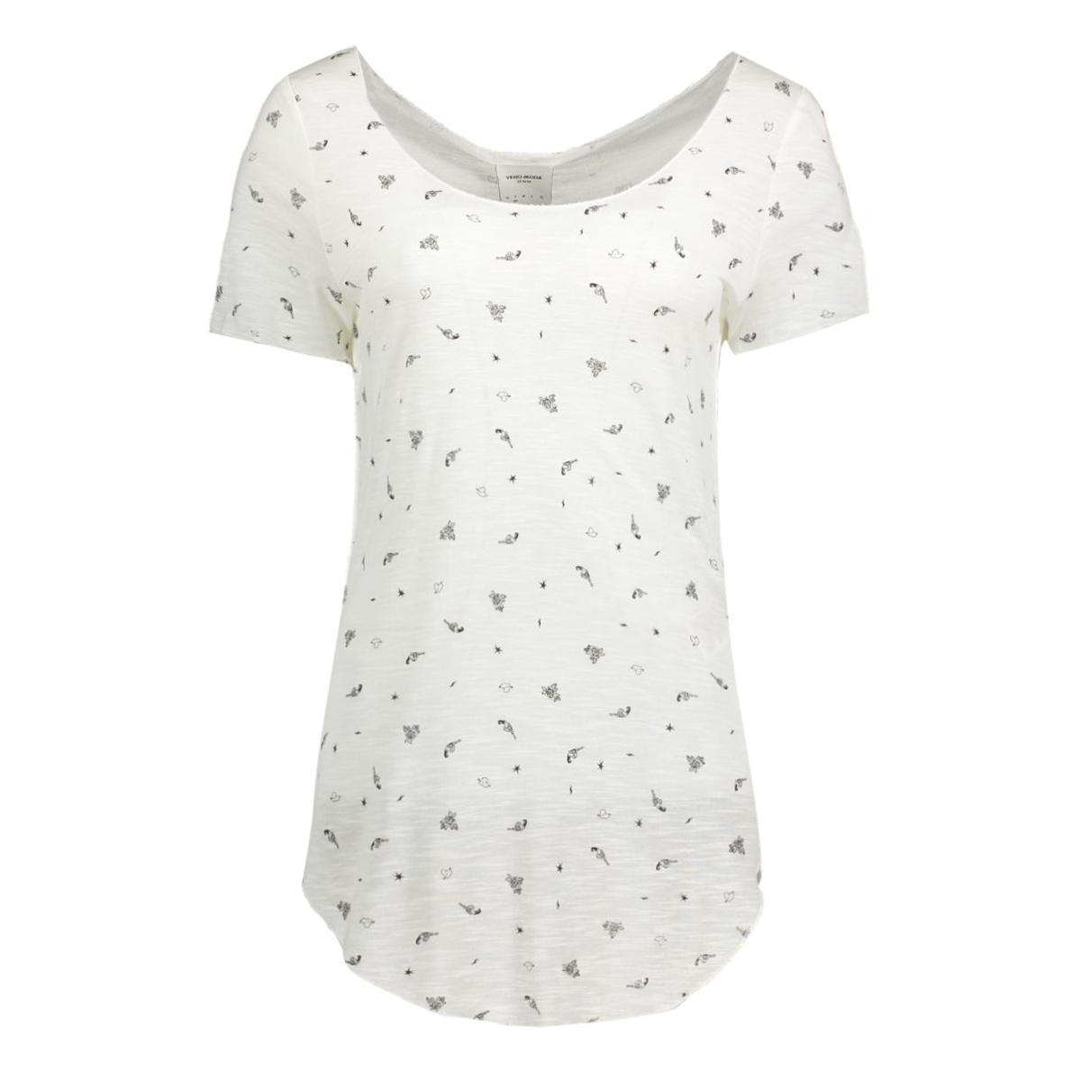 vmlua lucy ss top box dnm jrs 10164685 vero moda t-shirt snow white/connie
