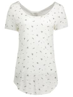 Vero Moda T-shirt VMLUA LUCY SS TOP BOX DNM JRS 10164685 Snow White/Connie