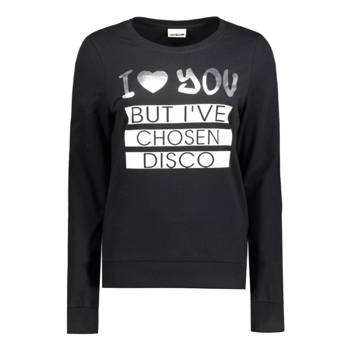 nmpana l/s top 10164756 noisy may sweater black/ i love you