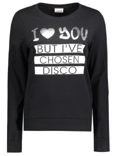 Noisy may Sweater NMPANA L/S TOP 10164756 Black/ I Love You