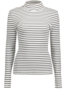 VIFALLS RIB TURTLENECK TOP-NOOS 14036491 Snow White/Black