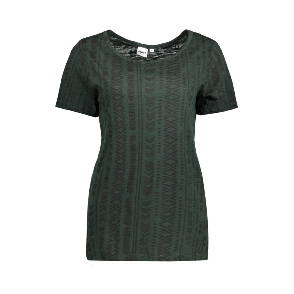 objisa s/s top fair 23022125 object t-shirt scarab