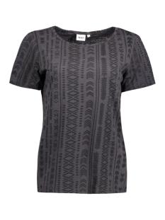 Object T-shirt OBJISA S/S TOP FAIR 23022125 Asphalt