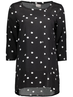 vmdottie long 3/4 top nfs 10175178 vero moda t-shirt black/snow white