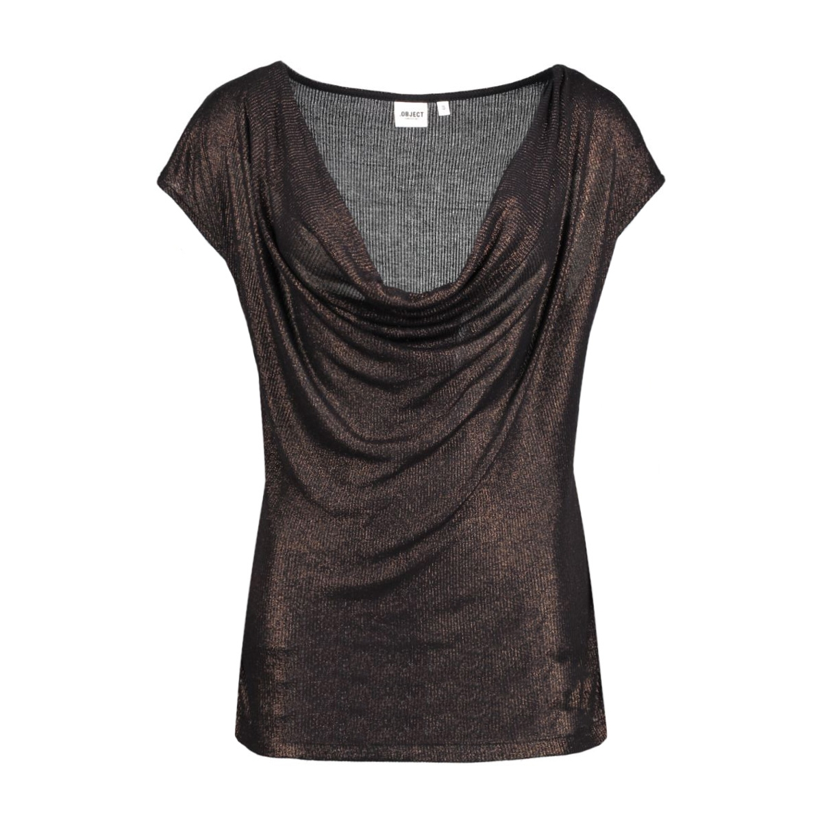 objvirgo s/s top 23023540 object t-shirt copper colour