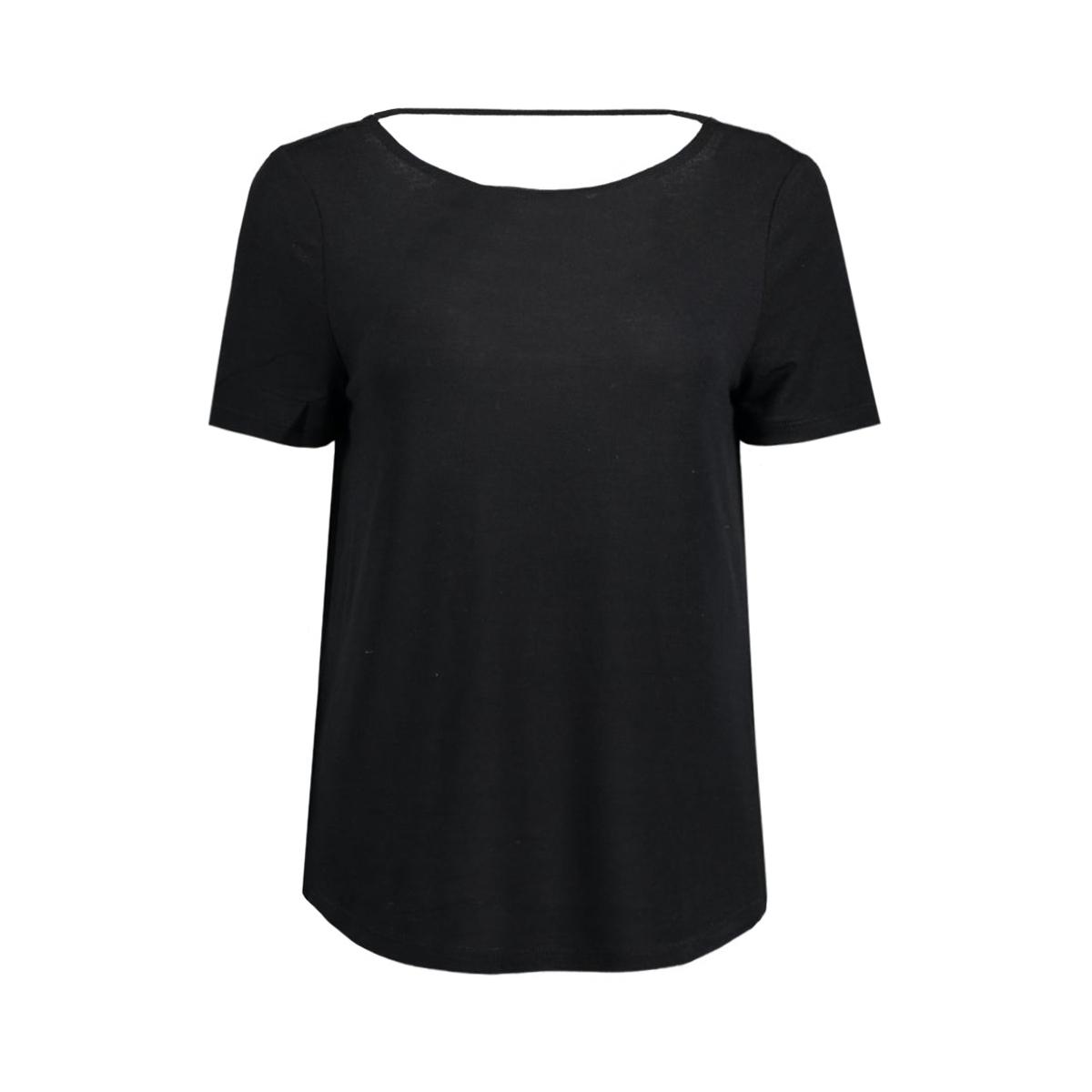 visilla melange s/s top 14038975 vila t-shirt black/melange