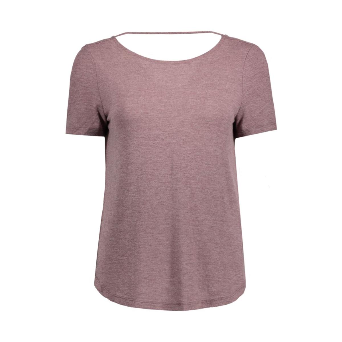 visilla melange s/s top 14038975 vila t-shirt tawny port/melange