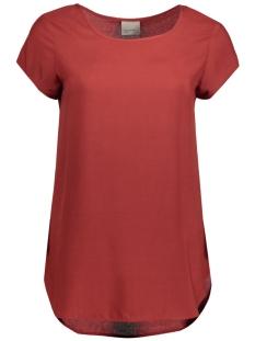 boca ss blouse color 10104053 vero moda t-shirt fired brick