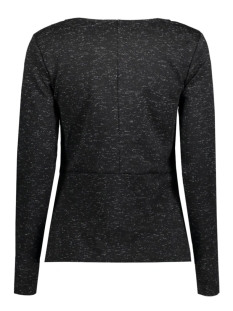 viamera l/s top 14037166 vila sweater black/pristine
