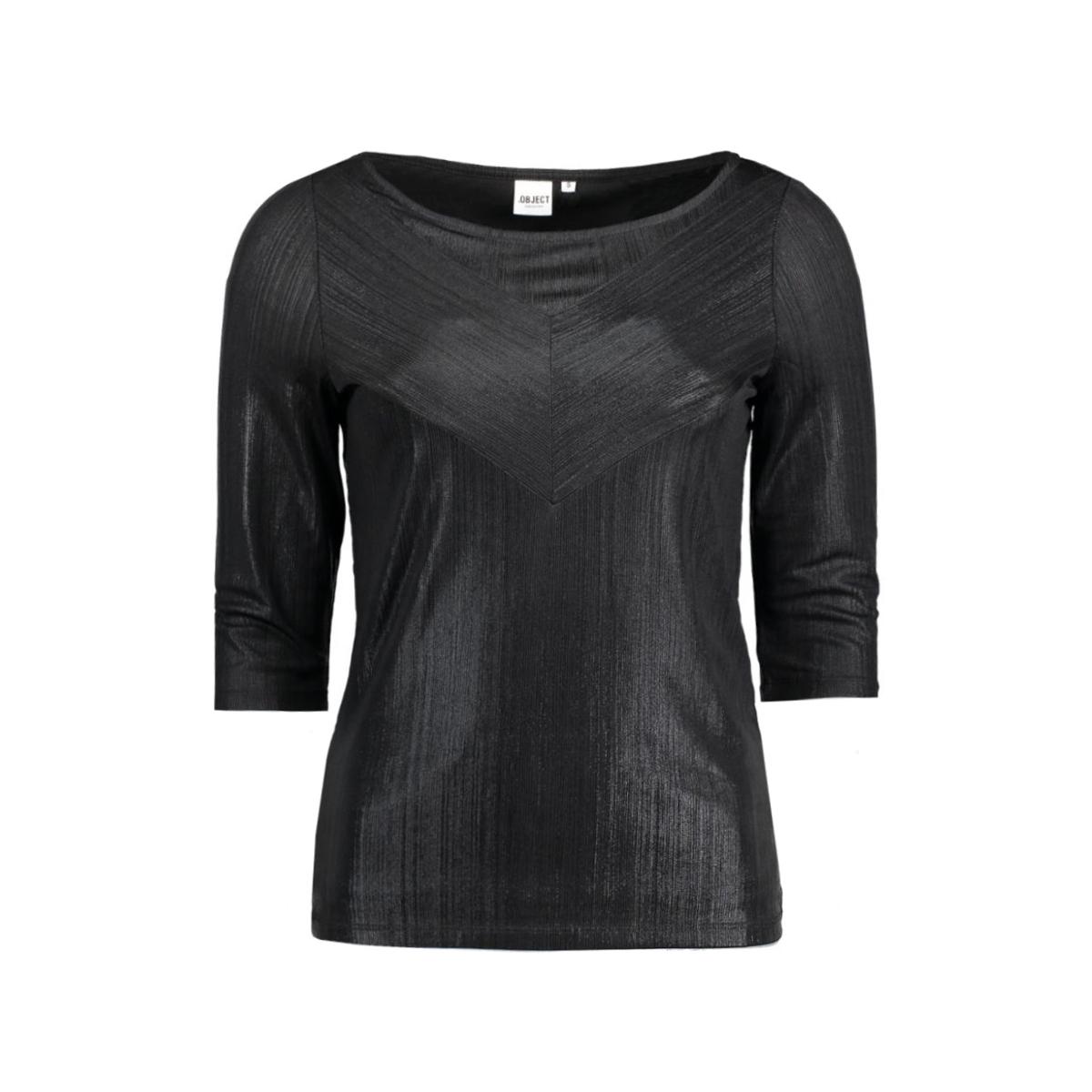 objlotus  3/4 top 23024040 object t-shirt black