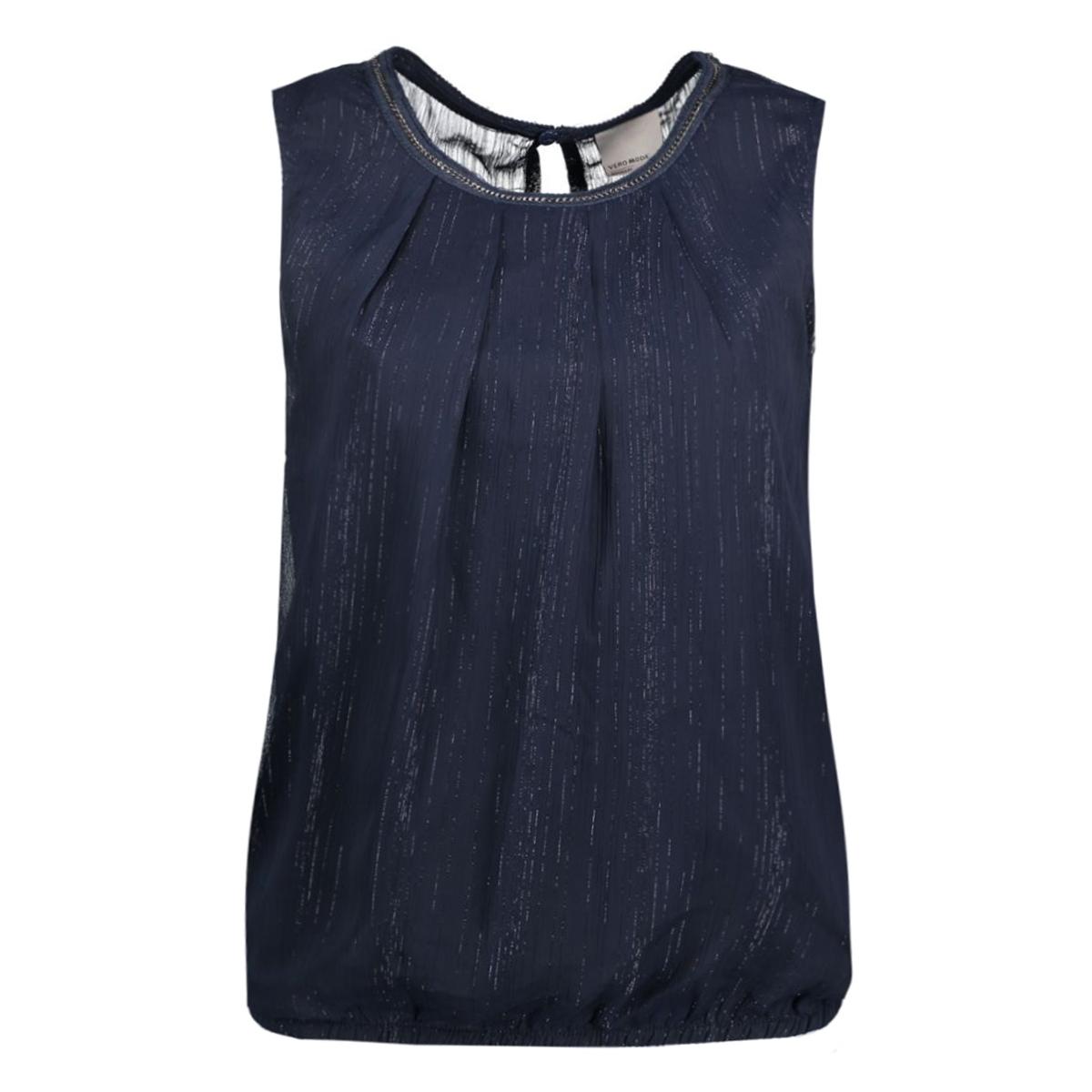 vmsimple glitter s/l top 10163860 vero moda top navy blazer