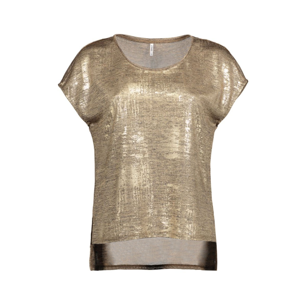 onlplearl s/s top jrs 15125872 only t-shirt gold colour