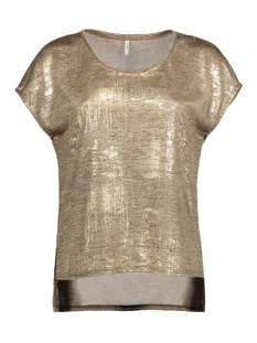 Only T-shirt onlPLEARL S/S TOP JRS 15125872 Gold Colour