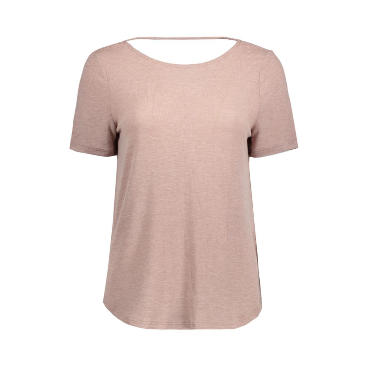 visilla melange s/s top 14038975 vila t-shirt antler/melange