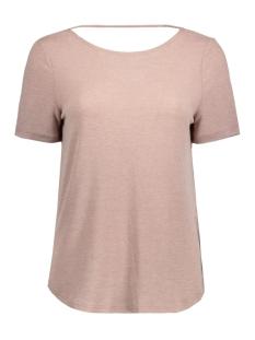 Vila T-shirt VISILLA MELANGE S/S TOP 14038975 Antler/Melange