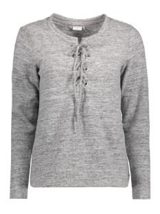 Jacqueline de Yong T-shirt JDYXSOFIE L/S LACE UP TOP PG JRS 15130124 Light Grey Melange
