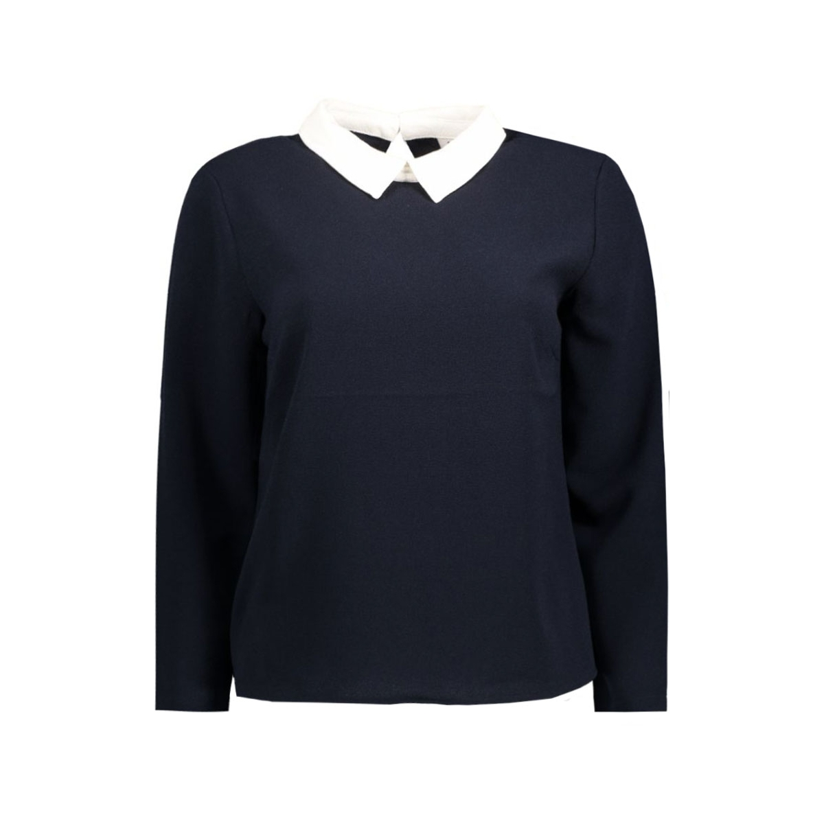 onlturner l/s collar top wvn 15133097 only blouse night sky