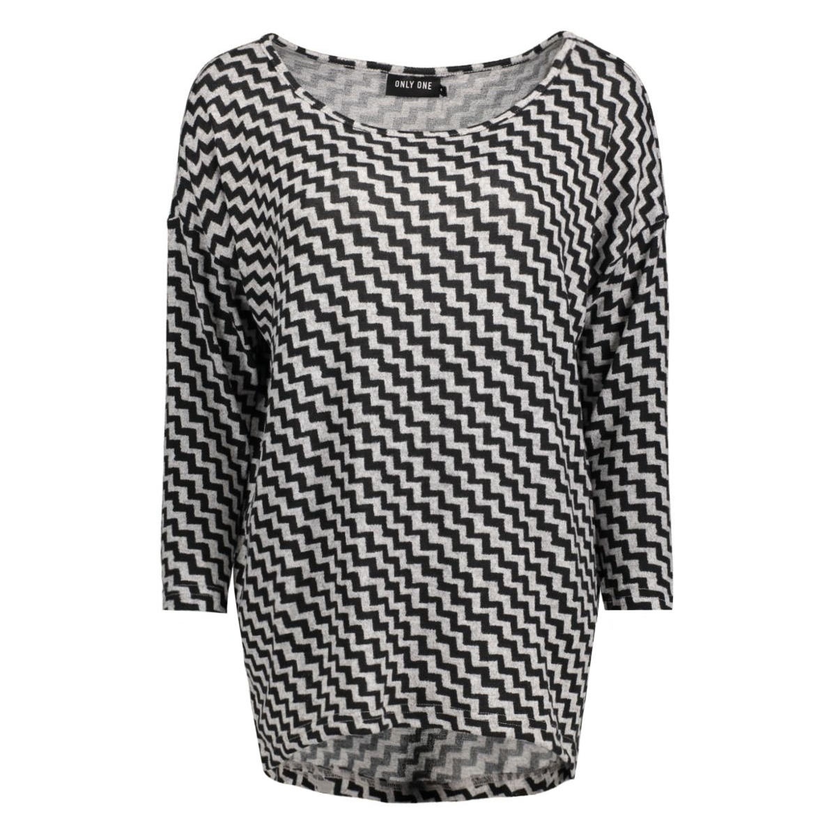 onlelcos anne 4/5 top jrs 15133165 only t-shirt light grey/ black