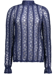 Vero Moda Blouse VMBIBBI LS HIGHNECK TOP JRS 10169038 Medieval Blue