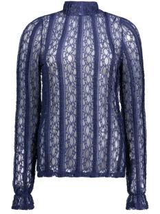 Vero Moda T-shirt VMBIBBI LS HIGHNECK TOP JRS 10169038 Medieval Blue
