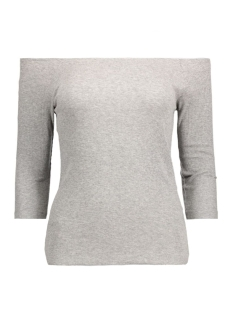 Vero Moda T-shirt VMBAL OPENSHOULDER 3/4 TOP NFS 10177611 Light Grey Melange