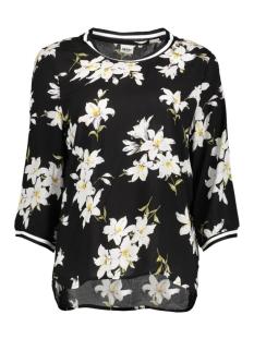 Object T-shirt OBJTRINY 3/4 TOP 23024665 Black