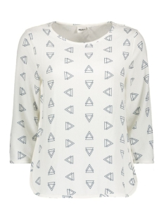 Object T-shirt OBJNILLE 3/4 TOP 23024641 Gardenia