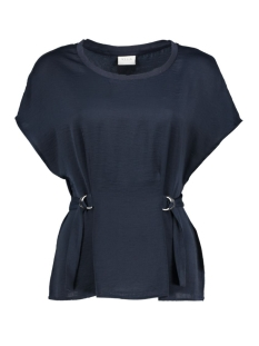 Vila T-shirt VIMELLI BELTED TOP 14041065 Total Eclipse