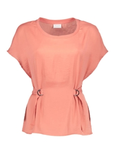 Vila T-shirt VIMELLI BELTED TOP 14041065 Rose Dawn