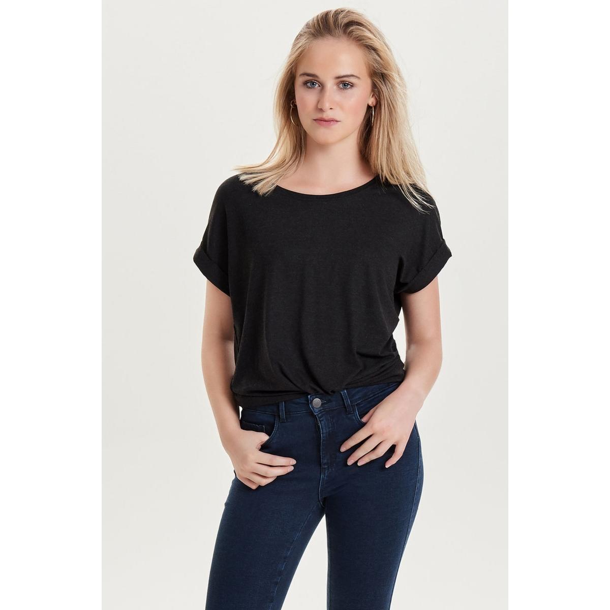 onlmoster s/s o-neck top noos jrs 15106662 only t-shirt black/melange