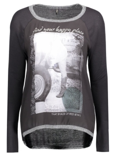 onlCHOLO L/S TOP JRS 15129522 Black/Bike Girl