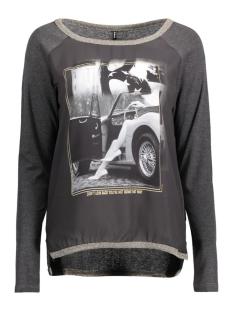 Only T-shirt onlCHOLO L/S TOP JRS 15129522 Dark Grey/Star Girl