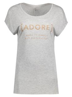 Only T-shirt onlVISCOSE S/S FAVOURITE PRINT BOX 15129038 Light Grey Mela