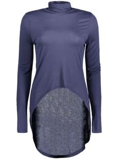 Noisy may T-shirt NMLAURA L/S HIGH/LOW TUNNELNECK TOP 10157930 Black Iris