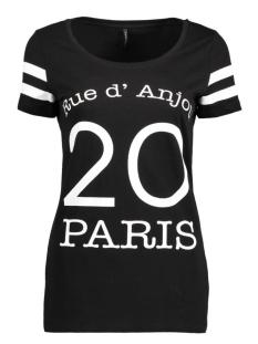 Only T-shirt onlNEW JOLI S/S TOP BOX ESS 15135915 Black/Paris