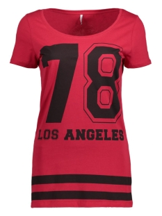 Only T-shirt onlNEW JOLI S/S TOP BOX ESS 15135915 Jester Red/Los Angele
