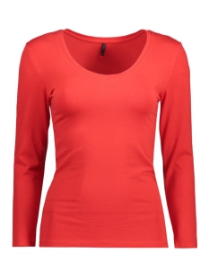 Only T-shirt onlLIVE LOVE 7/8 V-NECK TOP 15136724 High Risk Red