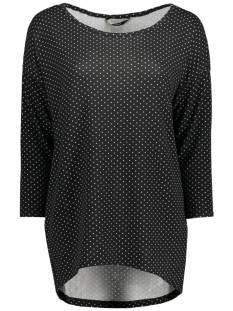 Only Trui onlELCOS MARY 4/5 TOP JRS 15136252 Black/Small Dots