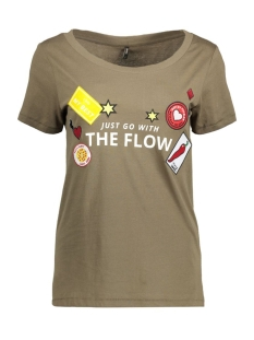 Only T-shirt onlKITA S/S LOLLIPOP/FLOW TOP BOX E 15134204 Tarmac/Flow