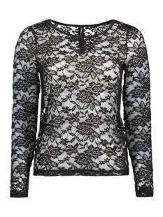 Only T-shirt onlMERLE L/S PLACKET ONECK  TOP JRS 15125863 Black